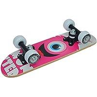 "Truly Niños X 5monopatín Mini 17x 5"", Infantil, Skateboard Mini 17 x 5, Rosa/Blanco"