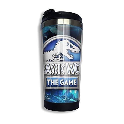 Jurassic Park - Taza de café de acero inoxidable para botella de agua