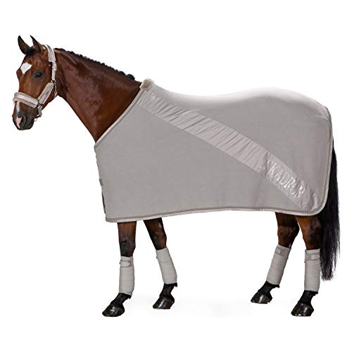ESKADRON Abschwitzdecke FLEECE DIAGONAL (Classic Sports HW19), softgrey, XL (155 cm)