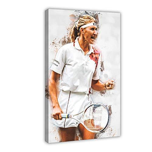 Steffi Graf Poster Tennis Bild Leinwand Schlafzimmer Kunst Dekor Druck Büros Wohnheim Zimmer Dekor Geschenk 60 × 90 cm Rahmen