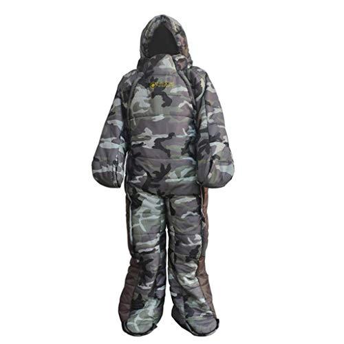 P Prettyia Schlafsack mit Ärmeln: Schlafsack für Erwachsene mit Armen & Beinen - XL