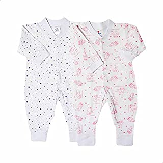 Papillon Star and Teddy Bear Pattern Long Sleeves Bodysuit Set for Girls - 2 Pieces