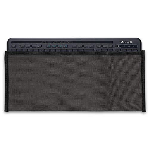kwmobile Custodia Copritastiera Compatibile con Microsoft Wired Keyboard 600 - Protezione Antipolvere Tastiera PC - Cover Protettiva Grigio Scuro