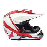 AIOJY Casco De Motocicleta Casco Cruzado para Jóvenes Adultos con Gafas, Guantes, Máscara Moto Casco Protector Integral para Bicicleta De Montaña,M
