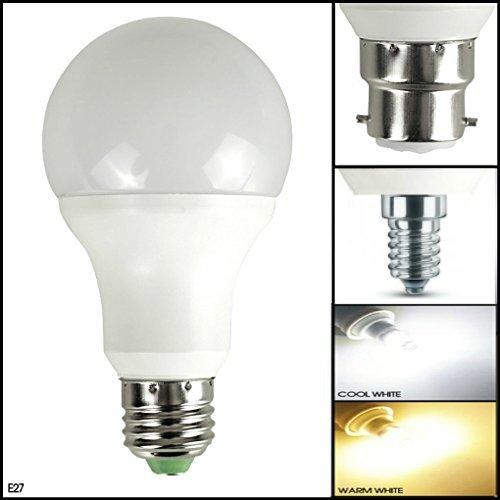 Msc, lampadina LED B22/E27/E14, 5 Watt, 450 lumen.Lampadina LED con sensore automatico alba/tramonto, accensione e spegnimento automatico,luce bianca calda, 3000K, lampadina a risparmio energetico (non da 2W, 3W, 4W, 6W, 7W, 8W, 9W, 10W, GU10,E14,B22, E14) 5W–equivalente di quella a incandescenza da 50W, Daylight White 1 Pack, GU10, 5.00 wattsW 220.00 voltsV