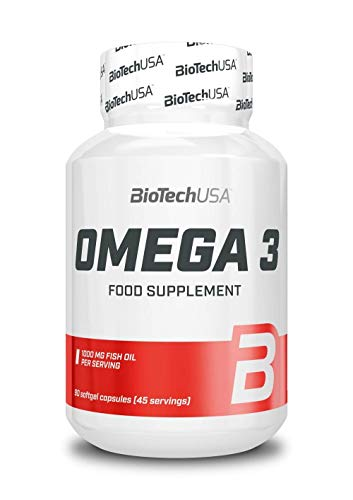 BioTech USA Mega Omega 3 90 Kapseln, 1er Pack (1 x 64 g)