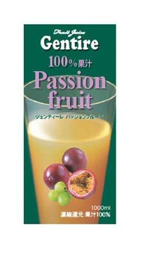 Gentire100%フルーツジュース パッションフルーツ 1000ml×12本