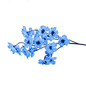 PERZOE Artificial Flower Eco-Friendly Plastic Fake Simulation Plant Wedding Household Props Decor Blue
