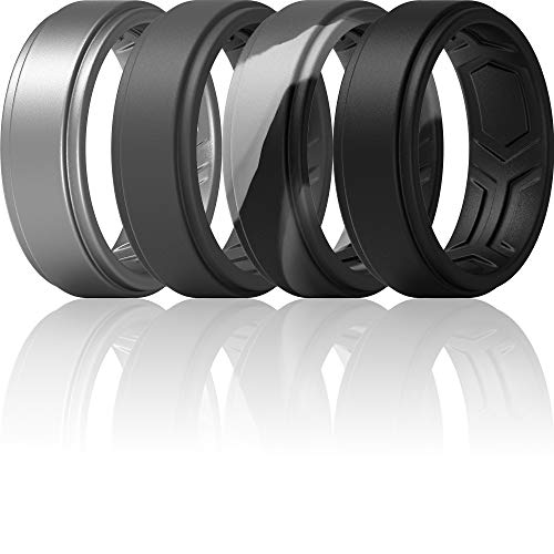 (32% OFF) 4 Silicone Rings for Men $6.81 Deal