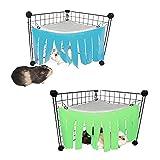 2 Pcs Escondite de Animales Pequeños para Mascotas Hamaca de Tienda de Hámster Animales Pequeños Tienda Jaula Escondite Hámster Accesorios para Jaulas para Mascotas Ardilla Hurón Conejito Chinchilla