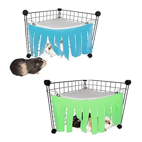 2 Stk Meerschweinchen Versteck Hängematte Kleintier Zelt Versteck für Kleintiere Hamsterzelt Hängematte Käfige Dekoration Zubehör für Meerschweinchen Chinchilla Igel Ratte Eichhörnchen Frettchen Hase
