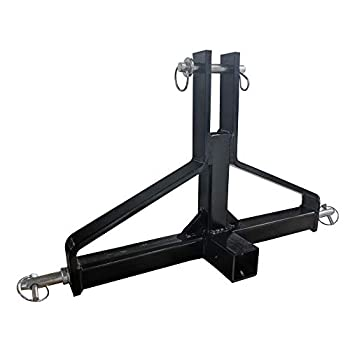 Titan Attachments Receiver Hitch 2  Category 1 3 Point Quick Hitch Compatible