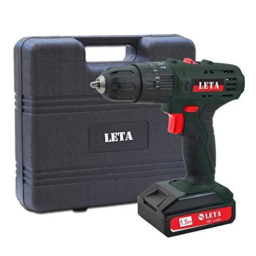 UANDM 18V lithiumboor, boor, elektrische schroefmachine, gereedschapskist, set, huishouden, oplaadbare handboormachine LT-LE92