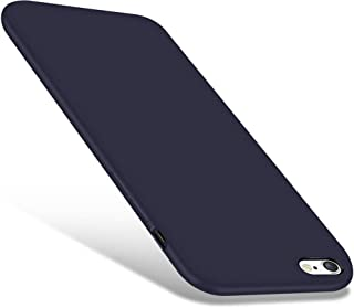 iPhone 6 / 6s Case, CellEver Liquid Silicone Guard Rubber Shock Absorbing Cover with Soft Microfiber Cloth Cushion for Apple iPhone 6 / 6S (Navy Blue)