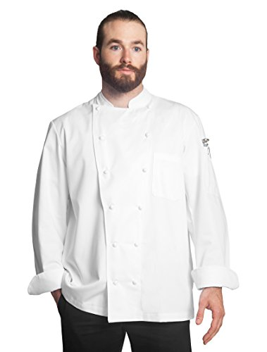 Bragard Alfredo Chef Jacket, Double Breasted with Long Sleeve Coat for Cooking, Restaurants, Pubs, Cafes, Kitchens, Hotels, Bars - Size 44 - White