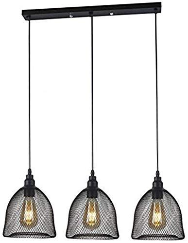 Kroonluchter, drie-bar, restaurant, cafeteria, industriële afstandsbediening, kroonluchter, eenvoudig, oude hanglamp, lichte woning, 25 x 18 cm, lang toetsenbord 50 x 6 cm