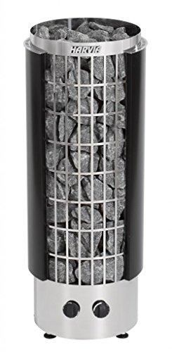 Harvia Cilindro Saunaofen - PC90H 9,0 kW mit integrierten Steuergerät, Farbe: Schwarz