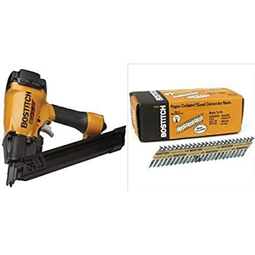 BOSTITCH MCN-150 StrapShot Metal Connector Nailer with PT-MC14815-1M Paper Tape Collated Metal Connector Nails (1,000 per Box)