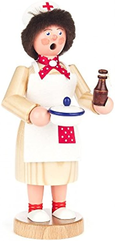 Rucherfrau Krankenschwester - 18cm - Dregeno Erzgebirgische Holzkunst - Artikel 146 1153