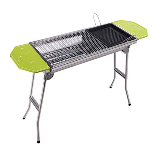 Learn More About Nhlzj BBQ Supplies/Barbecue Folding Charcoal Grill Portable Stainless Steel Outdoor...