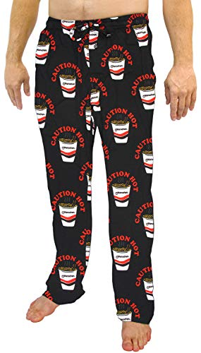 Seven Times Six Maruchan Ramen Noodles Instant Lunch Adult Sleep Lounge Pajama Pants for Men and Women (XL) Black