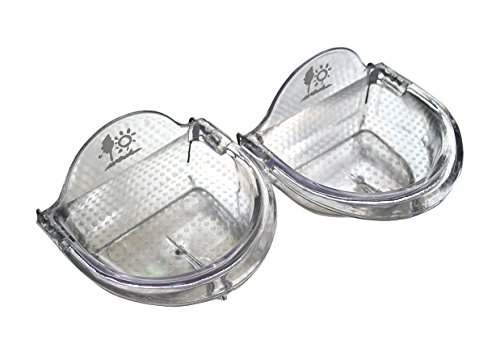 TOKYO-T Pet Bird Cage Seed Feeder Cup (L) Shallow Style Set of 2 for Lovebird, Cockatiel