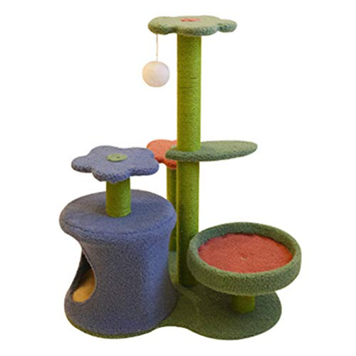 Cat Tree Multi Level Cat Towel with Scratching Post Cat Kitten Activity Center Play House Entertainment Furniture 30inch