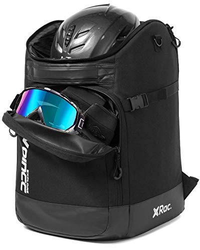 RAVOINCC Ski Boot Bag Snowboard Boots Backpack Skiing and Snowboarding 50L Travel Luggage with Waterproof Exterior Stores Gear for HelmetGlovesGoggles amp Accessories for Men Women and Youth Black
