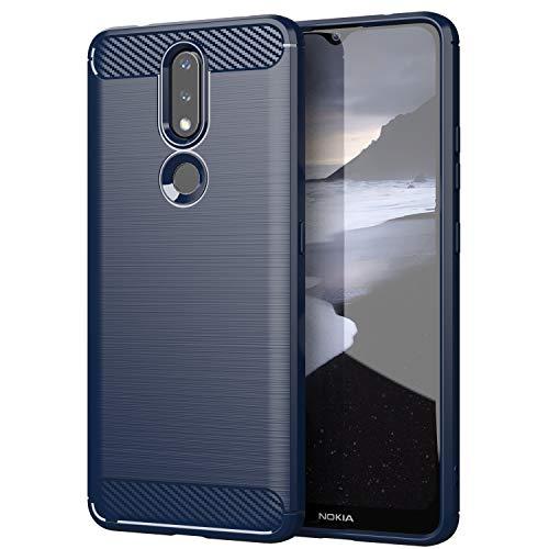 TingYR Cover per Nokia 2.4, Ultra Sottile di Gomma, Ottima Cover Antiurto TPU Flessibile, Custodia Case per Nokia 2.4 Smartphone.(Blu)