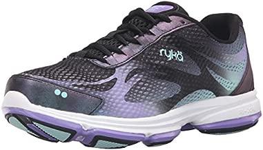 RYKA Women's Devotion Plus 2 Walking Shoe, Black/Purple, 8 Wide