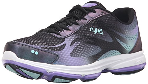 Ryka Women's Devotion Plus 2 Walking Shoe, Black/Purple, 8 M US