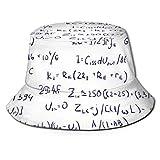 Gorras Fórmulas matemáticas Sombrero de Pescador Visera de Viaje Sombrero para el Sol Pesca Fisher Beach Festival Gorra para el Sol