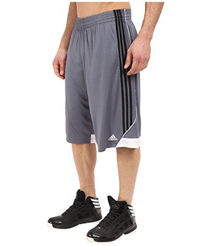 adidas Men's Basketball 3G Speed 2.0 Shorts, Onix/Black, Small