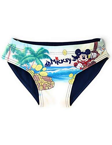 Badehose für Baby/Kinder, Jungen, Mickey Pirat, Marineblau und Rot, 12 bis 36 Monate Gr. 80, marine