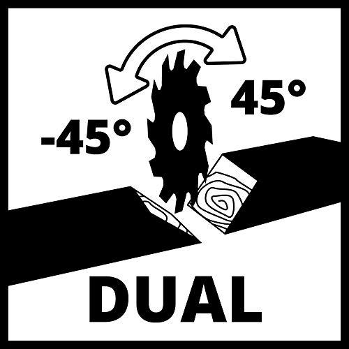 Einhell Zug-Kapp-Gehrungssäge TC-SM 2131/1 Dual (1.500 W, Ø210 x Ø30 mm Sägeblatt, 31 cm/21 cm Schnittbreite 90°/45°, Neuheit 2020, Zugfunktion, Spannvorrichtung, inkl. Hartmetall-Sägeblatt) - 9