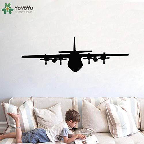 Vinyl muur sticker strijd vliegtuig jongen favoriete schattige speelse kamer patroon moderne militaire decoratie 63x192cm