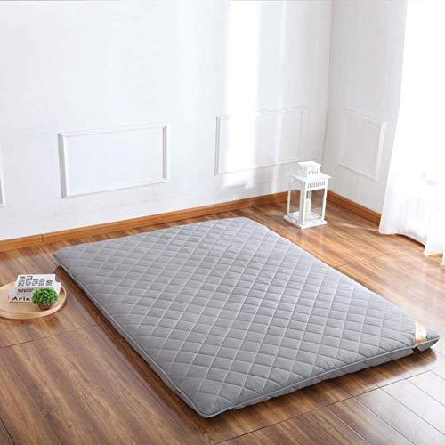 Colchón de futón plegable para colchón de piso de tatami, colchoneta portátil para acampar, plegable japonesa, gris 100 x 200 cm