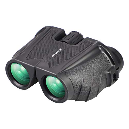 Jinhuaxin Mini Binoculares, 12x25 Prismáticos Binoculares Plegable, Binoculares para Adultos Niños para...
