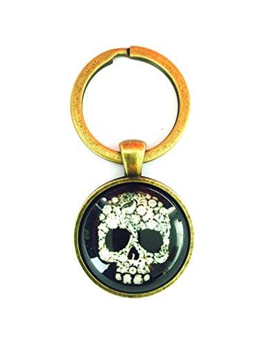 Schlüsselanhänger Totenkopf schwarz