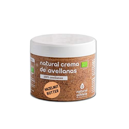 Crema de Avellanas Natural Athlete, 100% Avellanas Sin Azúcar, Sin Aceite de Palma y Sin Gluten- 300g