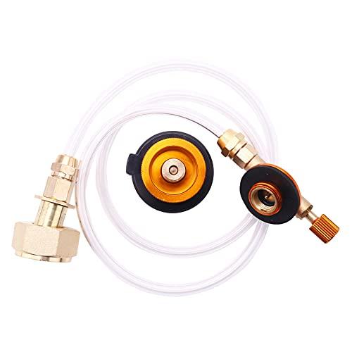 Bokie - Calentador de gas para hornillo de camping, adaptador de llenado de propano brusco, GLP