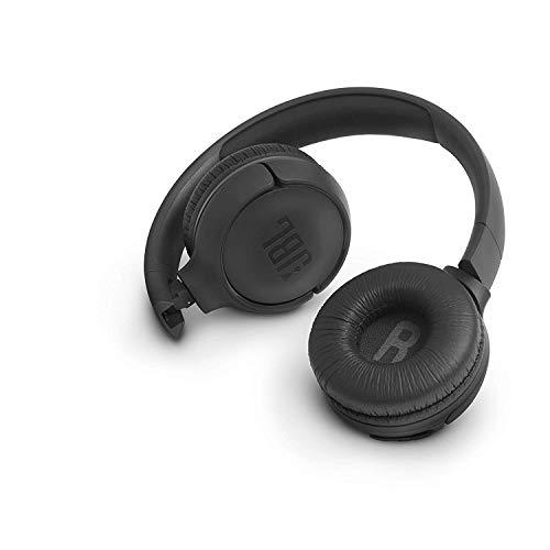 JBL Tune500BT - Auriculares supraaurales inalámbricos con conexiones multipunto y asistente de voz, batería de 16 h, negro