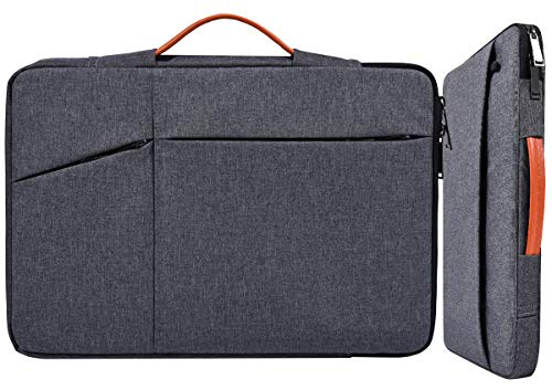 13 13.3 Inch Laptop Sleeve Men Women Bag Briefcase for Surface Laptop 3/Book 3, New Macbook Pro 13 A2338, Dell XPS 13 7390 9380, HP Pavilion/Envy 13, LG Gram 13.3, Acer Chromebook 13.3 Case, Gray
