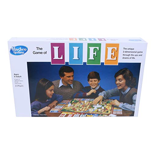 Hasbro Gaming The Game of Life Board Game for Families and Kids Ages 9 and Up, Game for 2-8 Players