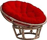HAOCHI Impermeabile Poltrona Papasan Cuscino,Addensare Rotondo Nido D'uovo Cuscino Sedia,All'Aperto Appendere Uova Poltrona Cushion per Amaca Swing Giardino Patio-Rosso Diametro 130cm