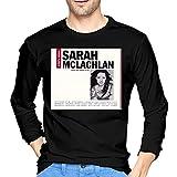 Photo de VJSDIUD Sarah McLachlan T-Shirts à Manches Longues en Coton pour Homme 's Choice' Noir