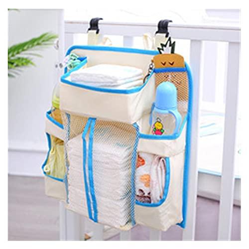ORGANIZADORES DE NIVERIOS Y CIB ARGANIZADOR DE PIERTOR DE PAQUETE PARA CAMA PARA LA BOLSA DE ALMACENAMIENTO COLGANTE DE ALMACENAMIENTO NUEVO Juego de mesa de cambio de pañal Newborn ( Color : Blue )
