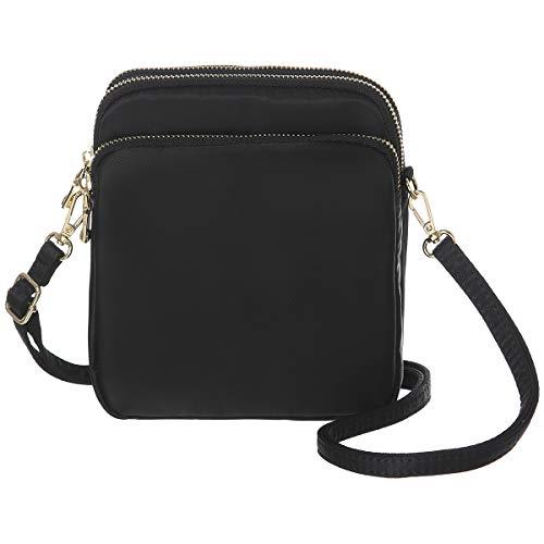 MINICAT RFID Blocking Small Travel Crossbody Purse Nylon Purses and Handbags Crossbody For Women(Black)