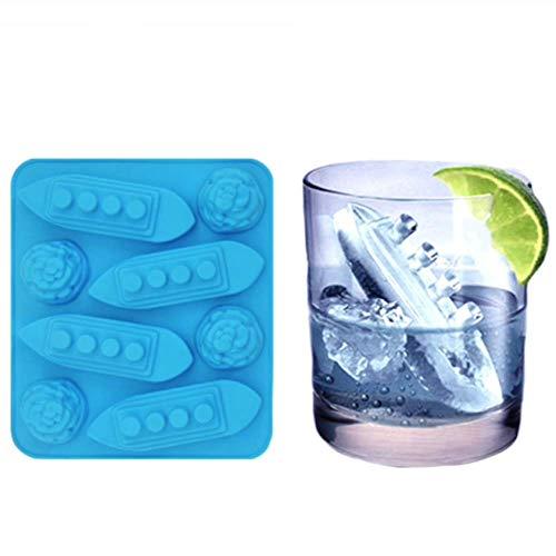 Titanic & Ice-Burg - Stampo in silicone per cubetti di ghiaccio