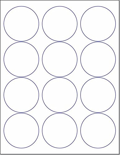 Laser/Ink Jet White Labels (2-1/2' Round - 12 Per Page | 600 Labels)